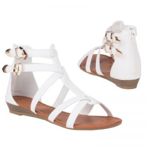 chaussure blanche sandales nu pied plat 39