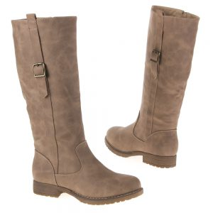 botte gris taupe style motard nouvelle collection femme 37