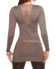 long pull manches longues col v plongeant nouvelle collection