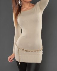 long pull beige dos ouvert nouvelle collection femme
