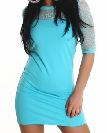 long top tee shirt turquoise jela london