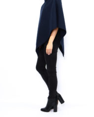 poncho court col montant bleu marine nouvelle collection made italie