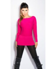 pull koucla fuschia rose nouvelle collection dos dentelle