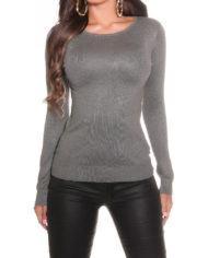 Pull Over Sexy nouvelle collection dos tisus gris koucla