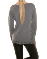 pull nouvelle collection gris dentelle nouvelle collection femme