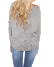 pull court grise nouvelle collection femme sexy