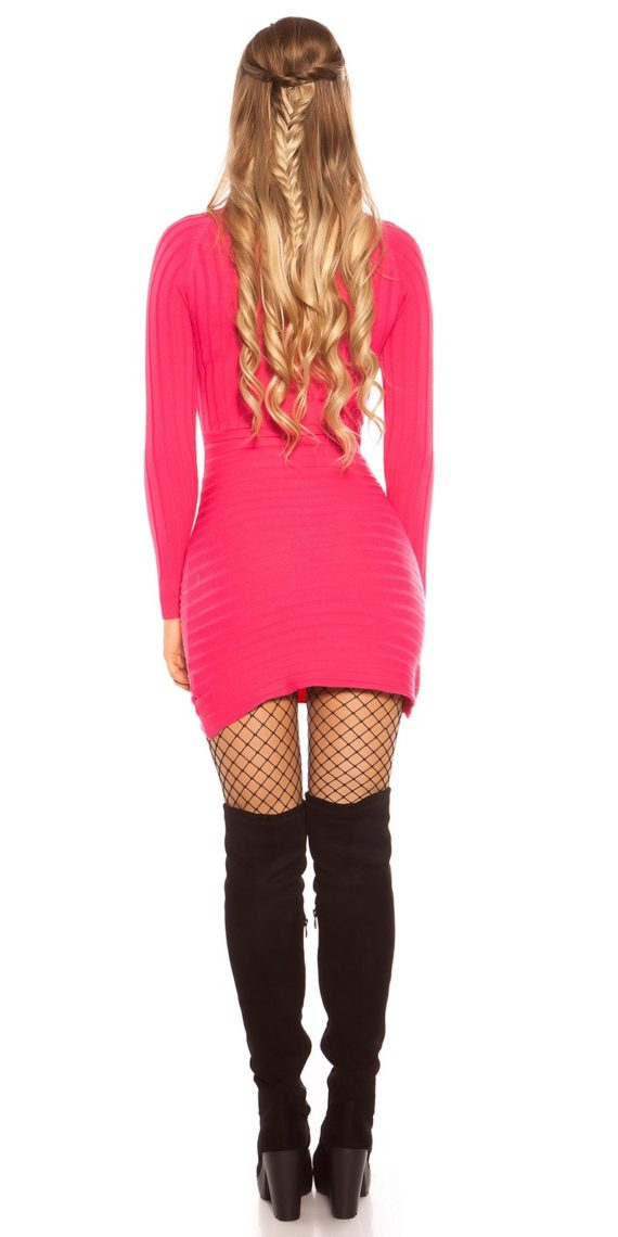 robe long pull hiver fuschia nouvelle collection koucla femme