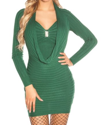 robe long pull hiver vert nouvelle collection koucla femme