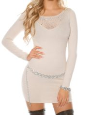ooKouCla_fine_knit_mini_dress_with_rivets__Color_BEIGE_Size_Einheitsgroesse_0000ISF8215-N_BEIGE_4