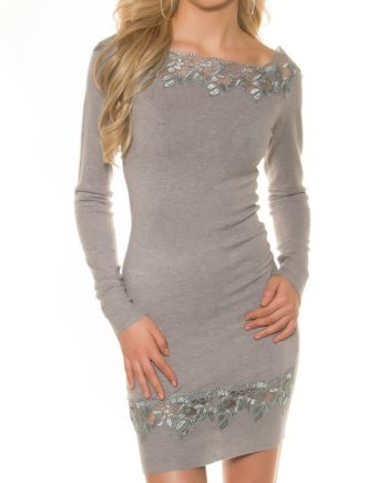 robe long pull gris sexy femme nouvelle collection koucla